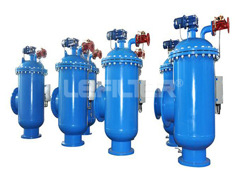 Industrial water self-cleaning filter hou